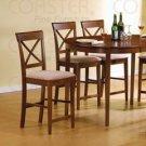 Cross Back Pub Chair in Walnut  - Set of Two 101229