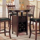 Antique Brass Finish Counter Height Collection Table - 100506