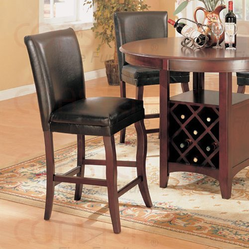 """Antique Brass Finish Counter Height Collection 24""""H Barstool - Set of Two"""