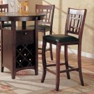 "Dark Cherry Finish Counter Height Collection 29""H Barstool - Set of Two - 100510"
