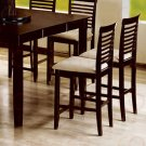 """Cappuccino Finish Counter Height Collection 24""""H Barstool - Set of Two - 101889"""