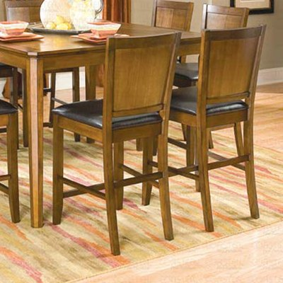"Walnut Finish Counter Height Collection 24""H Barstool - Set of Two - 101359"