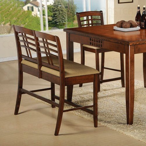 Walnut Finish Counter Height Collection Bench - 101336