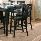 "Springfield Black Collection 24""H Barstool - Set of Two - 101039BLK"