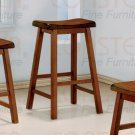 """Oak finish Collection 29""""H Barstool - Set of Two - 180059"""