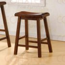 "Dark walnut finish Collection 24""H Barstool - Set of Two - 180069"