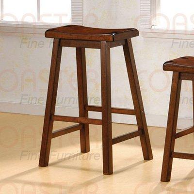 "Dark walnut finish Collection 29""H Barstool - Set of Two - 180079"