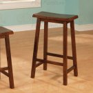 "Dark walnut finish Collection 29""H Barstool - Set of Two - 180119"
