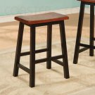 """Oak and Black Finish Collection 24""""H Barstool - Set of Two - 180129"""