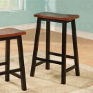 "Oak and Black Finish Collection 29""H Barstool - Set of Two - 180139"