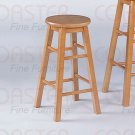 "Oak finish Collection 24""H Barstool - Set of Two - 180049"