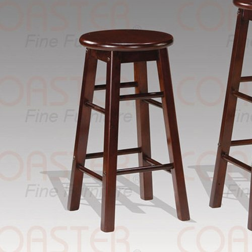 """Cappuccino finish Collection 24""""H Barstool - Set of Two - 100189"""