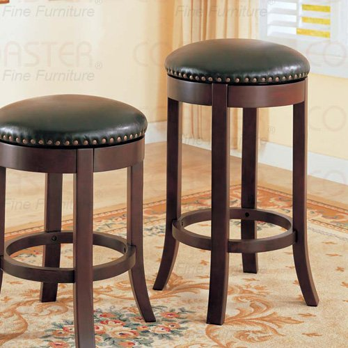 "wooden walnut Collection 29""H Barstool - Set of Two - 101060"