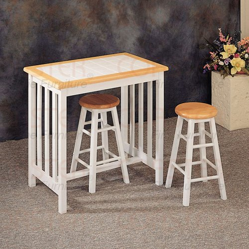 Breakfast Collection Natural/White  3PC Set 4109
