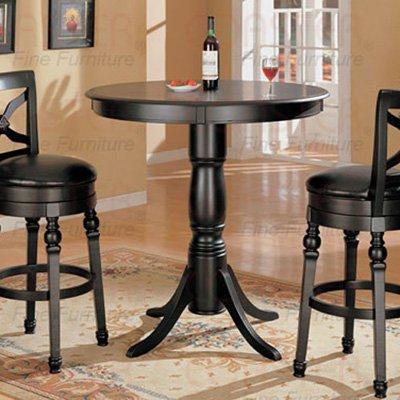 Black Finish Bar Collection Bar Table - 100278