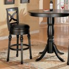 "Black Finish Bar Collection 29"" Bar Stool - 100279"