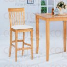 "Maple Finish 29"" Bar Stool -Set of Two - 4558"