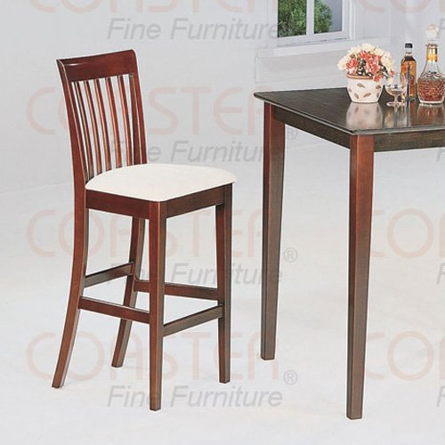"""Cappuccino Finish 29"""" Bar Stool -Set of Two"""