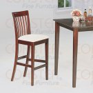 "Cappuccino Finish 29"" Bar Stool -Set of Two"