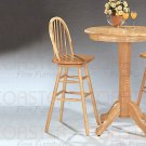 Natural Finish Collection Barstool - 4103