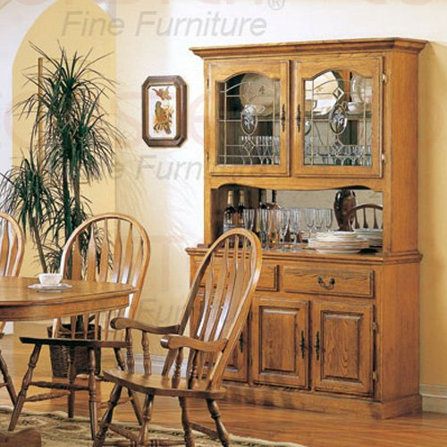 Oak Dining Room Collection Hutch/Buffet - Set of Two - 5327N
