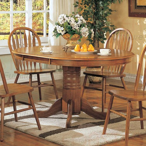 Oak Finish Wood Collection Dining Table - 5264N