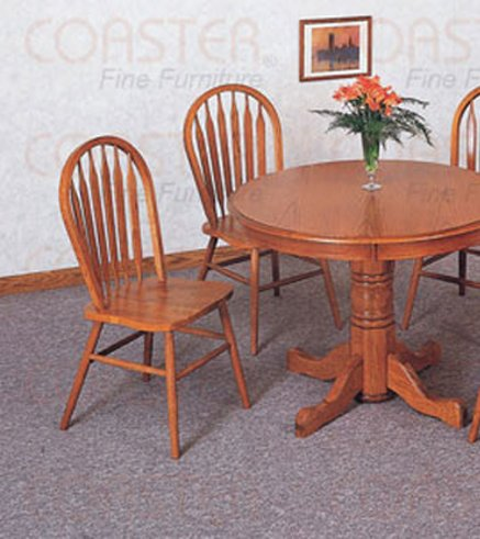 Country Light Oak Collection Tan Side Chair - Set of Two - 5276AN