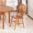 Oak finish Collection Side Chair - Set of Two - 5388A