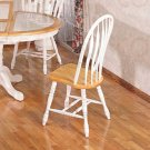 Natural & White Collection Chair - Set of Two - 4190A
