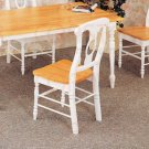 Natural & White Collection Chair - Set of Two - 4117