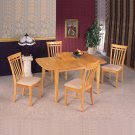Maple finish butterfly leaf table - 4267