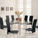 Pearl Silver Glass Collection Dining Table - 7641