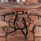 Dark Wood Metal Finish Round Top table