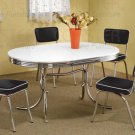 Chrome Plated Collection 5-Piece Dining Set