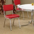 Chrome Plated Collection Red Chair -Set of Two - 2450R