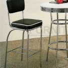 Bar Stool with Back in Chrome - Set of Two - 3156