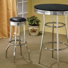 BAR STOOL CHROME PLATED - SET OF TWO - 2408