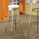 Soda Fountain Collection White Barstool - Set of Two - 2299W