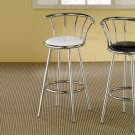 Chrome Plated Collection Barstool White - Set of Two - 2243W