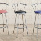 Chrome Plated Collection Barstool Black - Set of Two - 2244