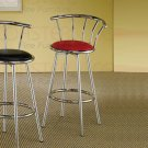 Chrome Plated Collection Barstool Red - Set of Two - 2243R