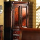 Newcastle TV armoire in dark solid wood finish-200146