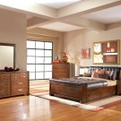 Langley Queen Bed In Brown Oak Finish - Coaster 201541Q