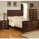 Temre Eastern King Bed In Rich Cappuccino Finish - Coaster 201571KW