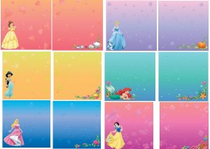 Disney Princess 12 x 12 Paper Set - 12 Sheets