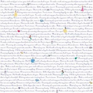 EK Success 12 x 12 Paper DISNEY PRINCESS VELLUM - 5 Sheets