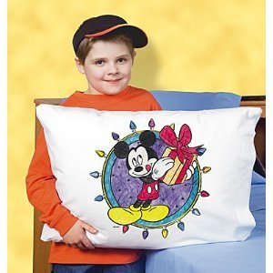 Disney Mickey's Christmas Present Pillowcase Art Kit