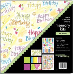 NEW Birthday Scrapbook Page Kits by Memories In The Making