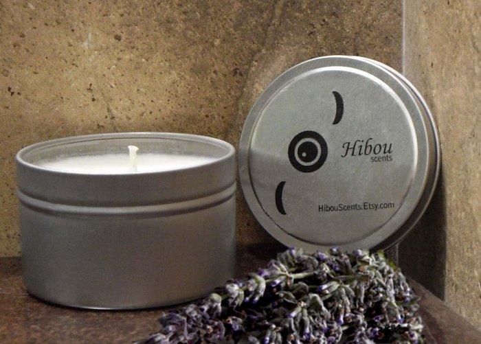 Three Lavender Hibou Candles