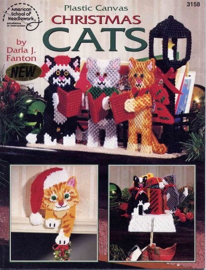 Christmas Cats in Plastic Canvas Pattern Booklet